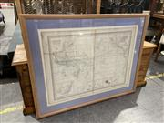Sale 8990 - Lot 2074 - French Map of the Oceanic from Atlas Universel  83 x 110cm (frame)