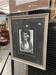 Sale 9016 - Lot 2004 - .Camilla Dickerson, The Interview,charcoal, frame: 61 x 51 cm, signed lower right