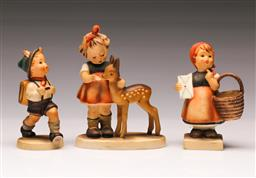 Sale 9110 - Lot 353 - Set of three Goebel figures - small chip to one hat (tallest H:13cm)