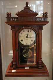 Sale 7977 - Lot 80 - American Timber Regulator Clock