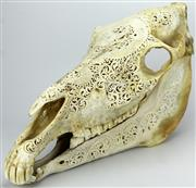 Sale 8088 - Lot 55 - Horse Skull Carving
