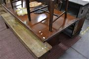 Sale 8115 - Lot 1188 - 5 Piece Timber Dining Setting incl. Table & 4 Ladderback Chairs