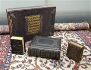 Sale 8205 - Lot 54 - A Butlers Edition Holy Bible, 1856, Old & New Testaments, in a leather bound cover with brass lock plate, together with a plain pape...
