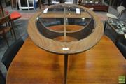 Sale 8364 - Lot 1081 - G-Plan Oval Atmos Coffee Table with Glass Top