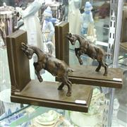 Sale 8379 - Lot 79 - Bronze Bookends featuring a Billy Goat on Each (2); H17cm x W20.5cm