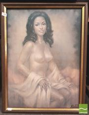 Sale 8413T - Lot 2008 - Framed Print of A Female Nude on Board, Signed Lower Right Vincent