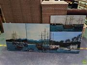 Sale 8613 - Lot 2083 - John Corbett ( 4works) Town Harbour Scenes acrylic on canvas, each signed lower (various sizes)