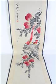 Sale 8940T - Lot 633 - Chinese ink scroll featuring birds, L129cm