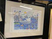 Sale 9008 - Lot 2012 - Ken Done Sydney Harbour Scene, 1980 colour lithograph ed. 11/12, 66 x 83cm, signed and dated lower right