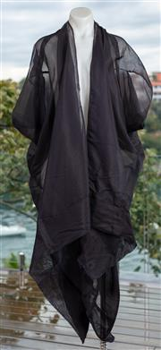 Sale 9044H - Lot 50 - An Alistair Trung Shinto in a black silk blend, Size M-L (as new with tags)