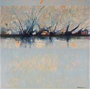 Sale 9063A - Lot 5011 - Margaret Woodward (1938 -) - Waters Edge - the Inlet, 2007 70 x 70 cm (frame: 96 x 96 x 5 cm)