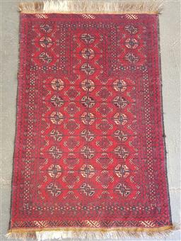 Sale 9102 - Lot 1032 - Pure wool hand knotted Persian Bokhara (140 x 80cm)