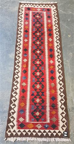 Sale 9215 - Lot 1493 - Persian hand knotted pure wool Kilim runner (191 x 60cm)