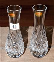 Sale 8088A - Lot 44 - A pair of English Royal Brierley hand cut lead crystal vases