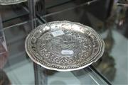 Sale 8112 - Lot 16 - Thai Silver Impressed Plate (Weight - 105g)