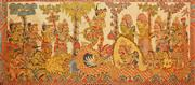 Sale 8286 - Lot 528 - Attributed to Mangku Mura (1920 - 1999) - Mythological Scene 185 x 83cm
