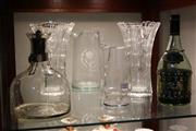 Sale 8346 - Lot 95 - Crystal Pair of Vases with Other Crystal & Glass incl. NSW Railway Bottles
