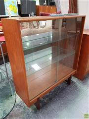 Sale 8585 - Lot 1083 - Teak Display Cabinet