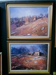 Sale 8582 - Lot 2028 - 2 Works by Patricia Blair Taber Country Scenes, each SLR