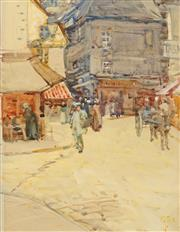 Sale 8642A - Lot 5183 - Artist Unknown (Early C20th) - Old Street Dinan, 1902 31 x 24cm