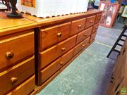 Sale 8648 - Lot 1099 - Timber Chest of Seven Drawers