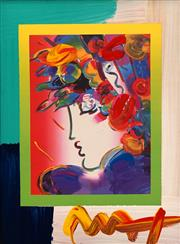 Sale 8665 - Lot 559 - Peter Max (1937 - ) - Blushing Beauty on Blends, 2006 25 x 20cm