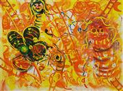 Sale 8695A - Lot 5061 - John Perceval (1923 - 2000) - Figures and Ladders, 1987 56 x 75cm