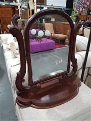 Sale 8697 - Lot 1059 - Timber Dresser Top Mirror
