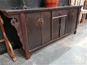 Sale 8777 - Lot 1011 - Large Oriental Sideboard with Six Doors & Single Drawer