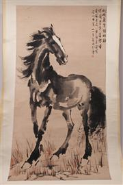 Sale 9057 - Lot 28 - A Horse Themed Chinese Scroll