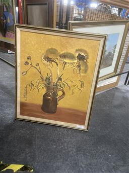 Sale 9123 - Lot 2092 - W. Wilmers Wildflowers in Studio Jug oil on canvas, 68 x 58cm (frame), signed