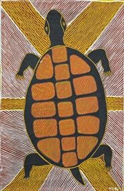 Sale 8260A - Lot 28 - Mourgen Dunken (XX) (3 works) - Turtle, Fish & Untitled, 1994 61 x 40cm, 41 x 70cm & 37 x 56cm