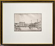 Sale 8325A - Lot 157 - Alfred (Ernest) Warner (1879 - 1968) - Circular Quay West, c1920s 14.5 x 21.5cm