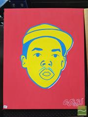 Sale 8441A - Lot 5015 - Jack Vigor (Street Artist, CASPER) - Portrait (Earl Sweatshirt) 75 x 60cm (stretched & ready to hang)