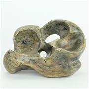 Sale 8419 - Lot 76 - Fruit Serpentine Stone Shona Abstract Sculpture