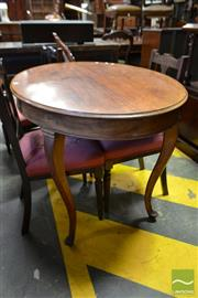Sale 8500 - Lot 1099 - 19th Century Danish Mahogany & Beech Oval Occasional Table, on cabriole legs