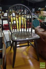 Sale 8532 - Lot 1312 - Pair OF Timber Spindle Back Chairs