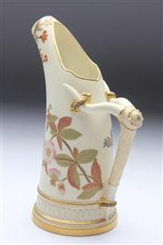 Sale 8677 - Lot 25 - Royal Worcester Urn With Bamboo Decorated Handle