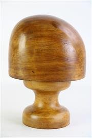 Sale 8860 - Lot 28 - Timber Hat Block (H25cm)