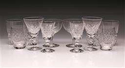 Sale 9110 - Lot 365 - Small collection of Stuart glassware together with a set of 4 other glasses
