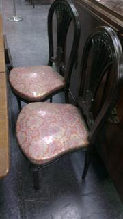 Sale 7944A - Lot 1055 - Set Of Six Pierced Back Dining Chairs (81)