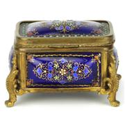 Sale 8169 - Lot 58 - French Enamelled Bombe Jewellery Box