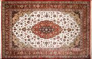 Sale 8276B - Lot 63 - Persian Pure Silk Qum 210cm x 137cm RRP $13,000