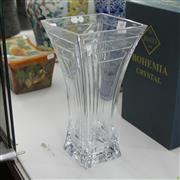 Sale 8306 - Lot 60 - Bohemian Rectangular Crystal Vase