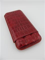 Sale 8423 - Lot 638 - Siglo Red Crocodile Skin Style Leather Cigar Holder, France