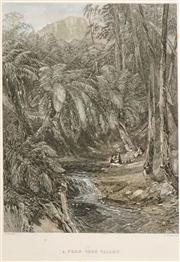 Sale 8549A - Lot 5067 - Samuel Prout Hill (1820 - 1961) (5 works) - Scenes of Colonial South Australia and Tasmania 18.5 x 12.5cm (mount size: approx 30 x 2...