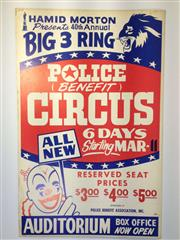 Sale 8579 - Lot 19 - A vintage C1970s Big 3 Ring circus poster, H 56 x W 36cm