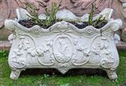 Sale 8568A - Lot 23 - A French style composite stone jardinière, modelled with vines, ex Yardware, W 54cm