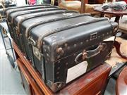 Sale 8717 - Lot 1043 - Timber Bound Travelling Trunk -