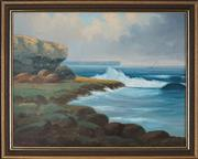 Sale 8936 - Lot 2031 - James Hutchings (1872 - 1962) Towards the North Head, Sydney Harbour oil on board, 41 x 53cm, signed lower left -